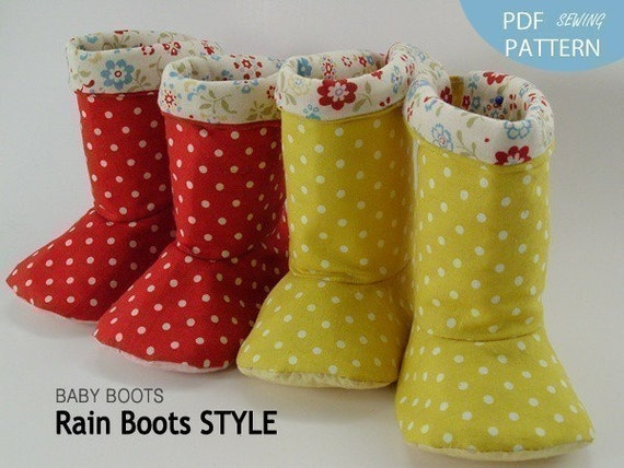 no 122 Baby Rain boot Style PDF Pattern