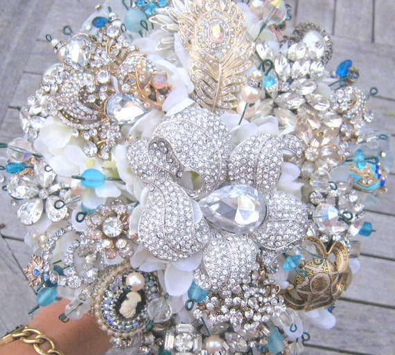 Deposit and custom information for heirloom jeweled bouquet