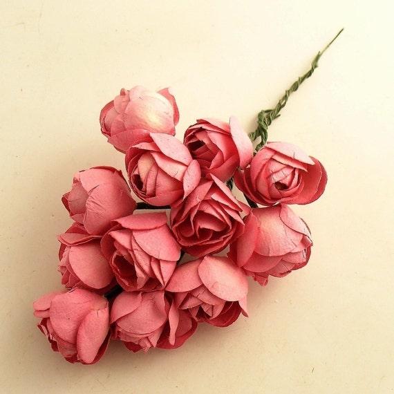 Twelve Pink Roses on Picks Stems Flowers