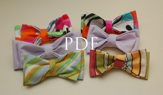 Double Layer Bow Tie - SEWING PATTERN