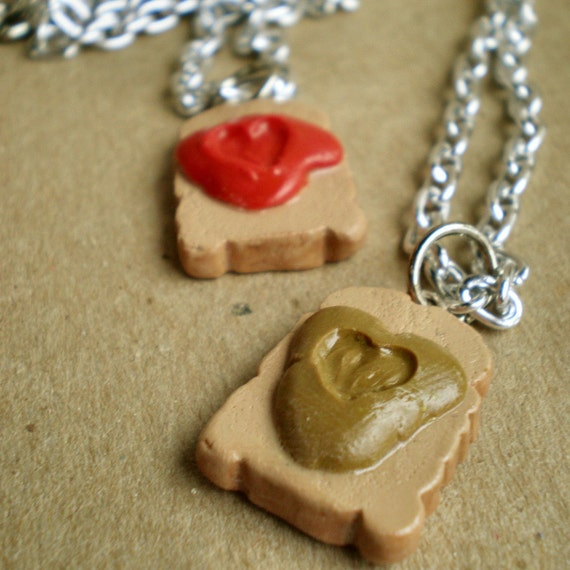 Peanut Butter & Jelly Best Friends Necklaces