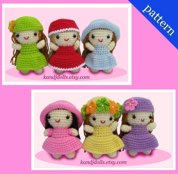 Little Girls - PDF Amigurumi crochet pattern