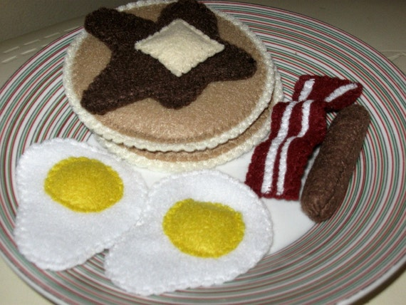 American Pancake Breakfast Set - Felt Play Food
