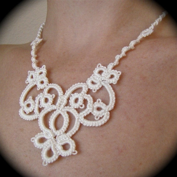 The Bride's Garden - Tatted Lace Necklace
