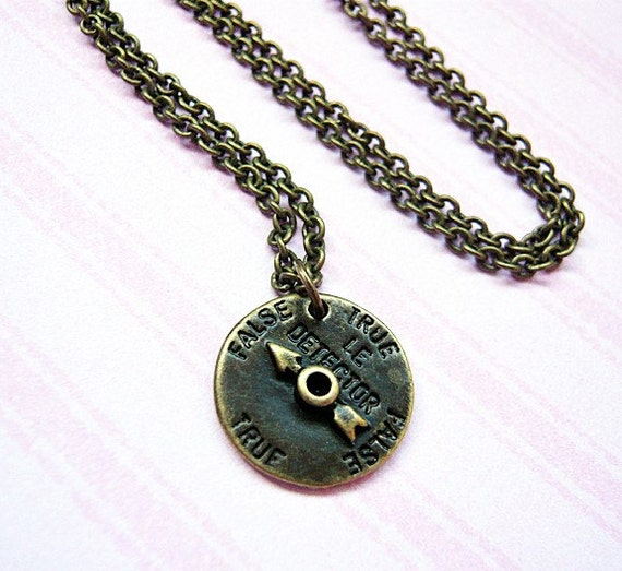 Vintage Style Lie Detector Charm Necklace by MaruMaru on Etsy from etsy.com