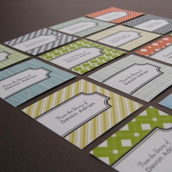 custom bookplates - assorted pattern design
