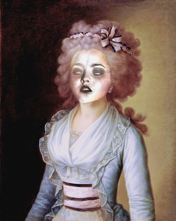 Zombie Contessa - Altered Image - 8 X 10 Art Print