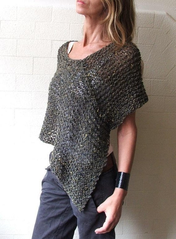 Moss Green Alpaca poncho LTd Edition in this shade