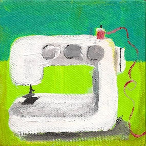 sweet sewing machine - print