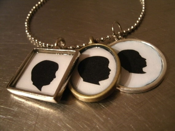 Custom Silhouette Necklaces