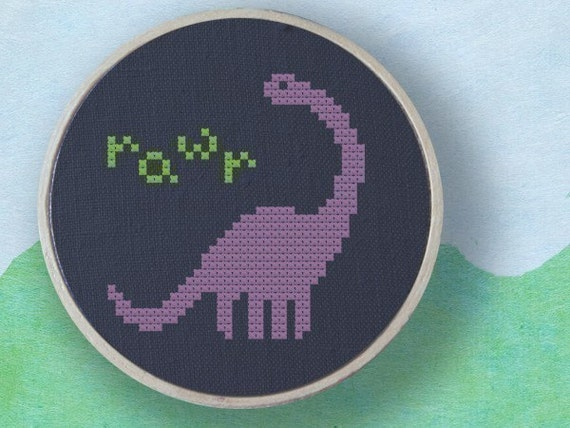 Cute Dino. Dinosaur Best Seller Cross Stitch PDF Pattern