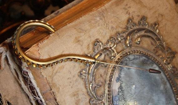 Antique Victorian Rare Rhinestones Hat Pin 1800s