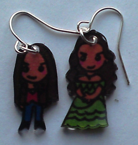 Kawaii Kat and Elena Vampire Diaries earrings
