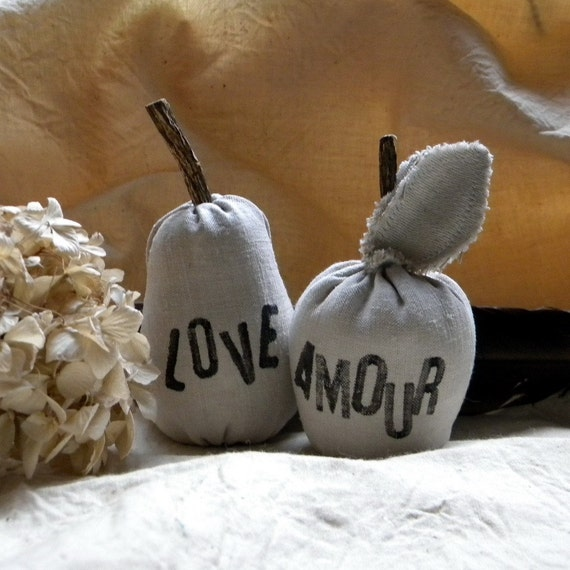 Pear and Apple lavender-scented plush toys