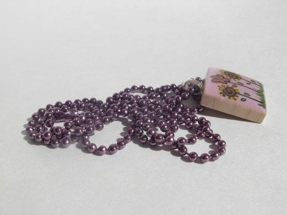 24 Inch PURPLE Ball Chain Necklace