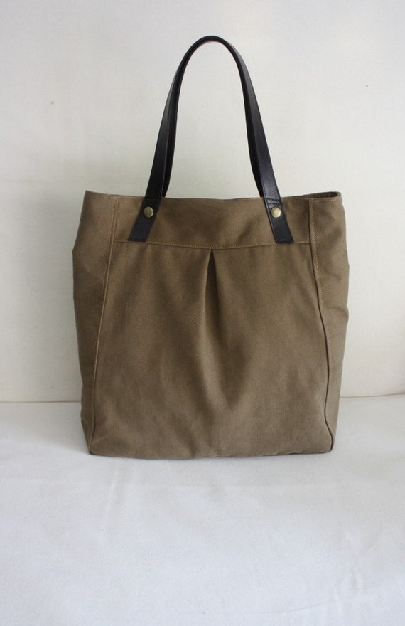 3rd YEARS ANNIVERSARY SALE - Juliet tote - sahara brown with genuien leather strap