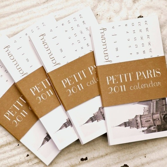 Mini 2011 Calendar Set - Petit Paris