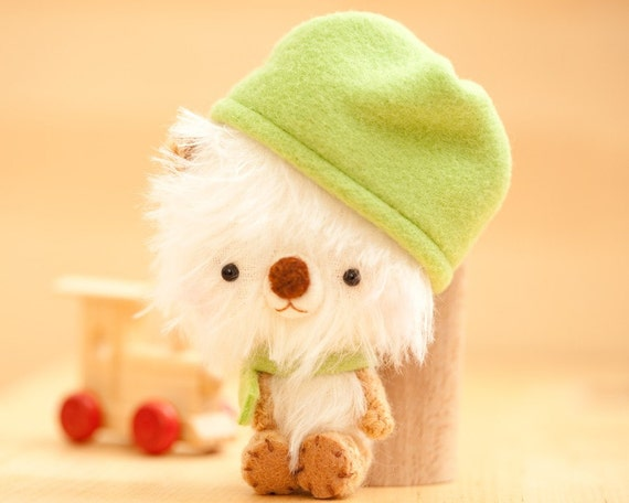 Miku- miniature mohair bear collectible toy -made to order-