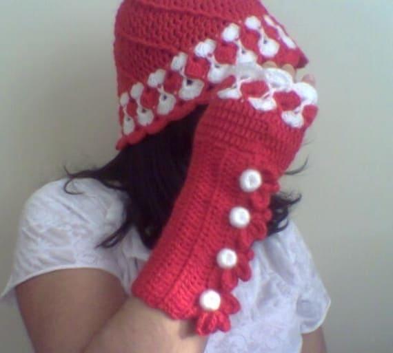 коледен комплект - шапка и ръкавици