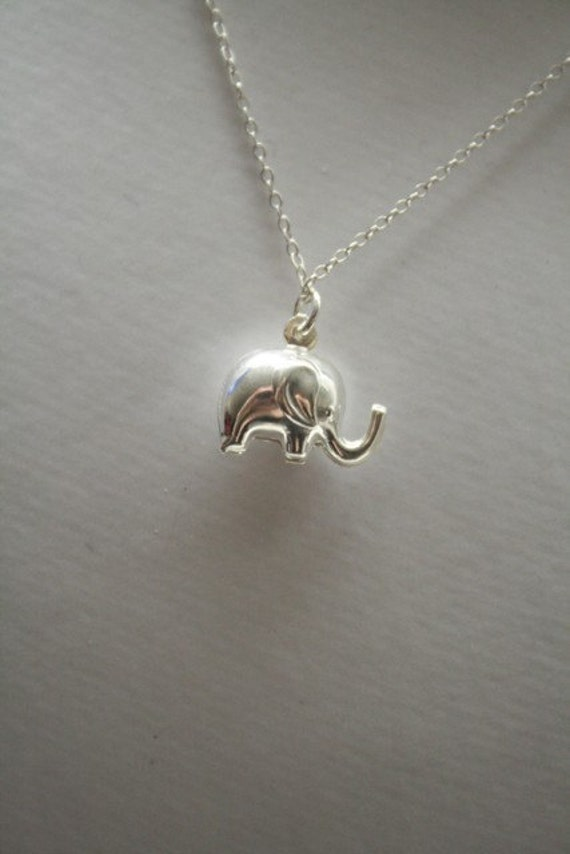 Luck Necklace.....Cute Sterling Elephant Necklace