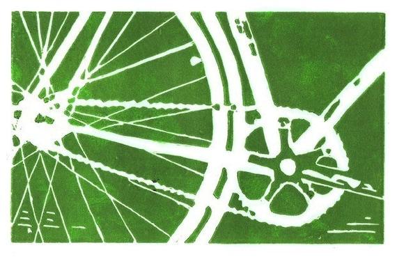 bike fine art print - MORE COLORS AVAILABLE