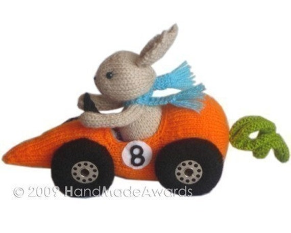 FITTIPALDI CAR CARROT PDF EMAIL CROCHET PATTERN