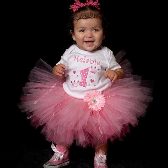 Party Princess first birthday SET, includes onesie, tutu and bloomers
