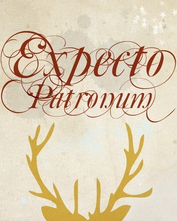 Expecto Patronum - Harry Potter - 5 x 7 Typographic Print