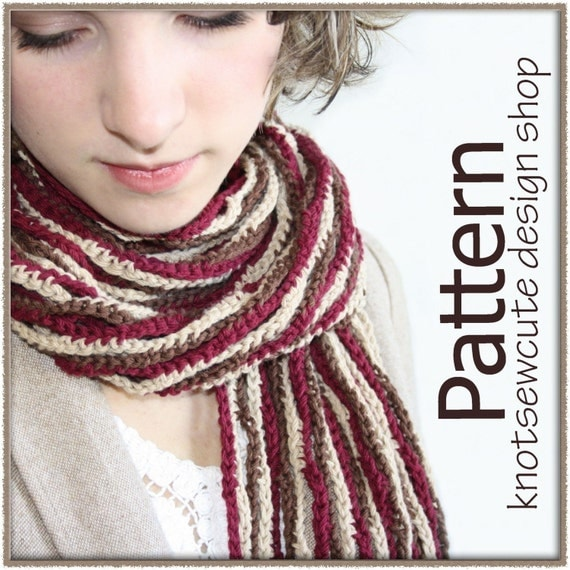 SIMPLE CROCHETED SCARF FOR TEENS - Designs by KN
