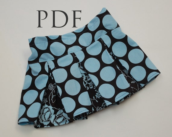 Prep School Pleated Skirt TUTORIAL, PDF