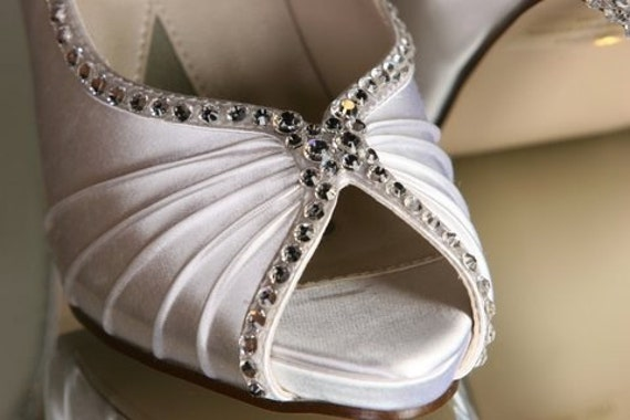 Swarovski Crystal Rhinestone Wedding Shoes... Over 100 Colors To Choose From...Moonbeam