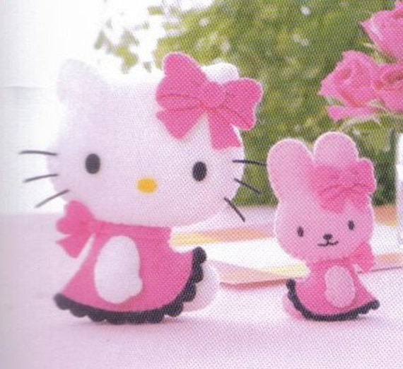 Free Shipping 20 Kitty Toys ( Felt Mascot ) pattern 5 (PDF)