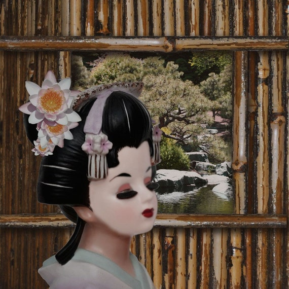 Bamboo View - Head Vase Lady Art by Brent Rodgers