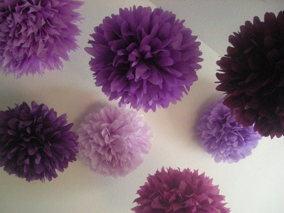 Mixed Up Purples... 10 poms