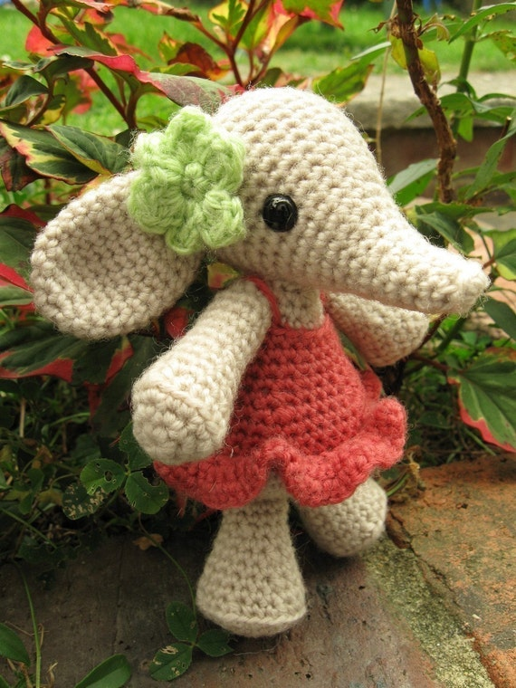 PATTERN for Flora the Elephant Amigurumi
