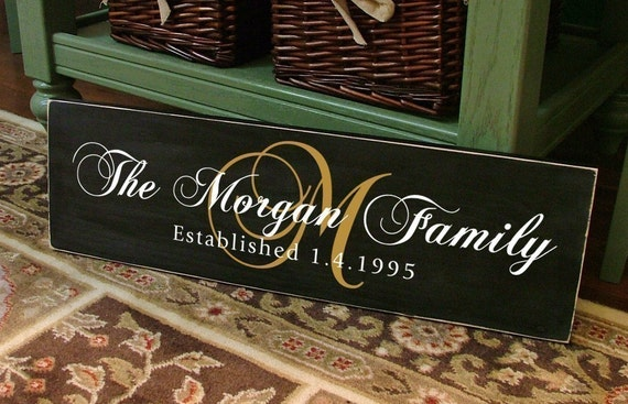 The Courtier - Custom Personalized Family Name Wood Sign