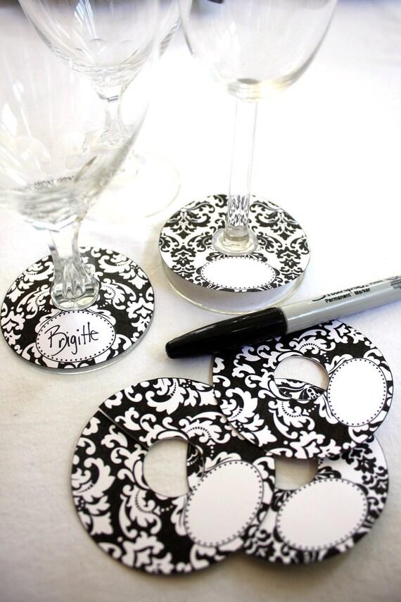 Wine Glass Slipper Name Tag