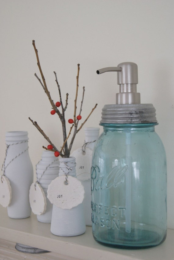 Quart Mason Jar Soap Dispenser with Metal Pump
