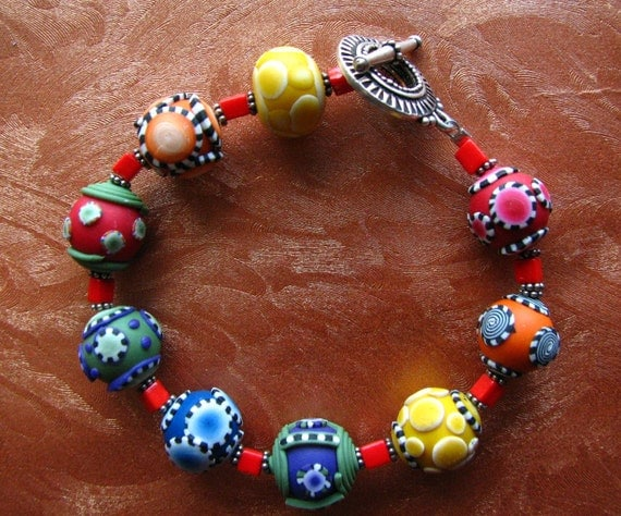 Playful Polymer Clay Bracelet