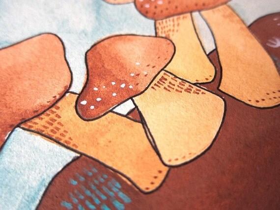 Original Illustration - Three Fungi