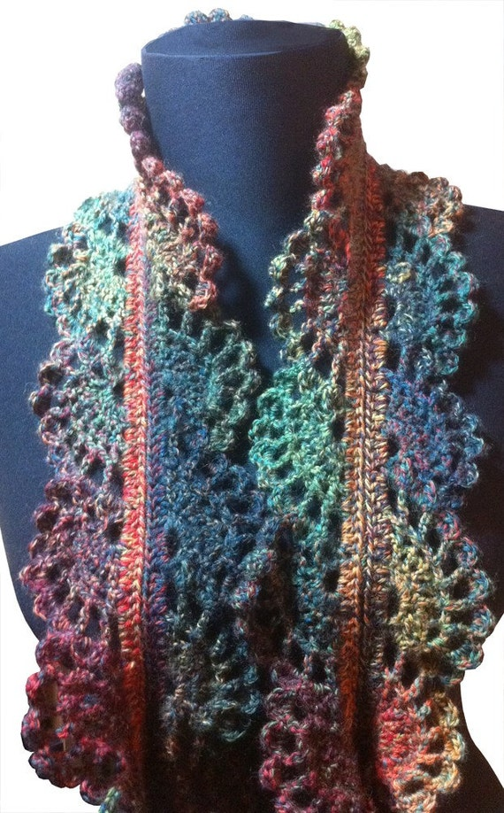Lace Sock Yarn Skinny Scarf  Crochet Pattern  A Knitters Blog Crochet Scarf Free Patterns Beginners