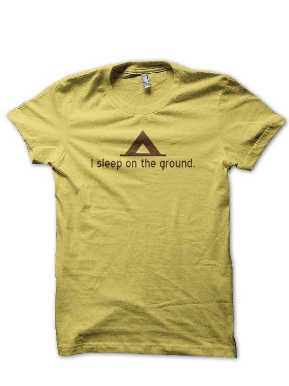 The Sleeping on the Ground Tshirt - Mens LARGE