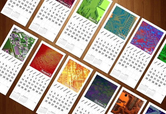 Circuits Boards 2011 Wall Calendar by theRasilisk on Etsy