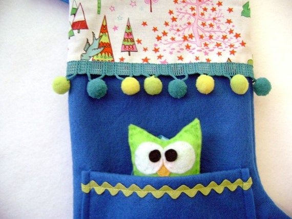 Pocket Peeper Holiday Stocking - Crazy Christmas