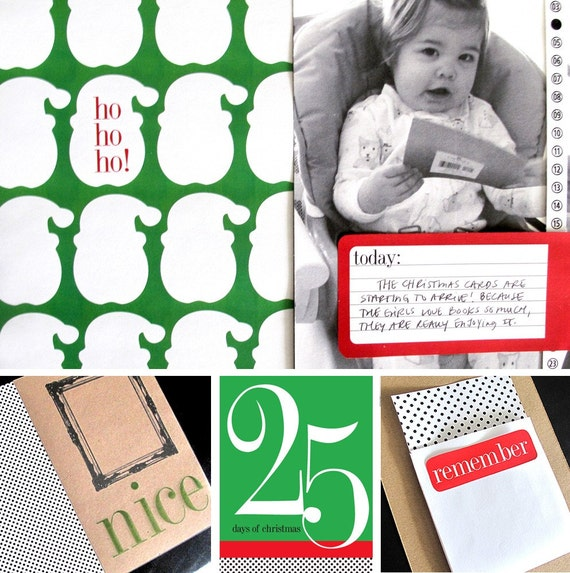 25 DAYS OF CHRISTMAS Printable scrapbook album