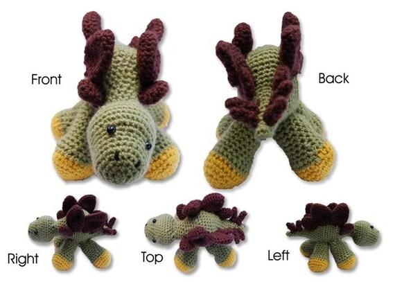 Handmade Crochet Stegosaurus