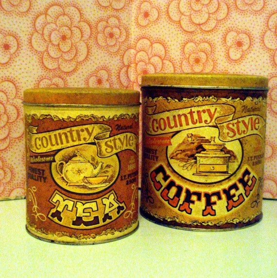 Vintage Coffee and Tea Canister Set