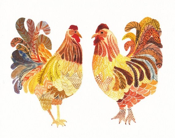 Two Chicken -Limited Edition Print