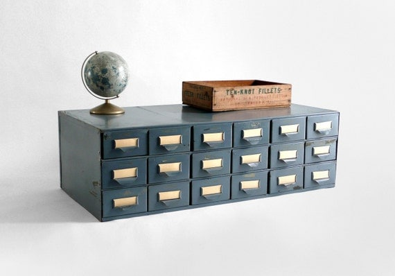 Industrial Metal Card Catalog