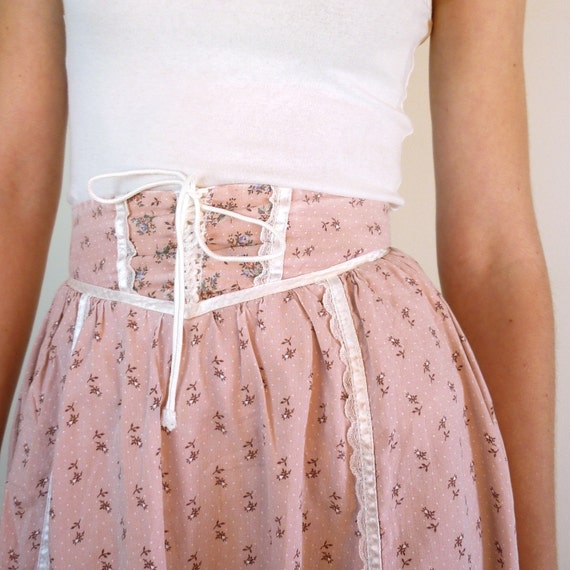 Lace Up Gunne Sax Vintage Skirt